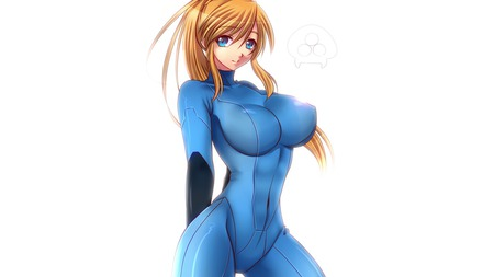 Anime Zero Suit Samus - metroid, blond, samus, zero suit, anime, other m