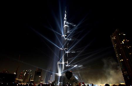 Burj Dubai Tower Modern Architecture Background Wallpapers On