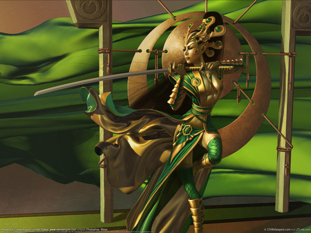 SUNSHINE WARRIOR LADY - art, fighter, angel, video game, game, abstract, women, fantasy, 3d, girl, anime, dream, fairy