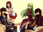 Lelouch, C.C, Kallen, Suzaku