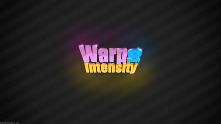 Warp Of Intensity (WDS) - glow, orange, gray, of, words, yellow, vignette, typography, sparkle, font, warp, random, pink, light, blue, curves, intensity, correction, black, effect, 3d, purple, letters, tilted, lines, lens, white