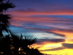 sunsetting sky in Havasu