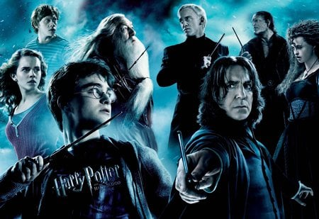 Half-Blood Prince - bellatrix, harry, snape, fenrir, draco, hermione, ron, dumbledore