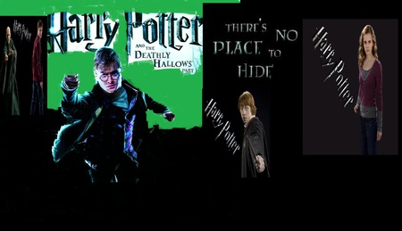 Harry Potter and the Deathly Hallows - voldimort, ron, harry, hermione