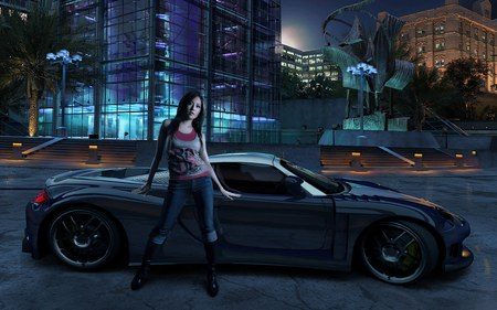 Need For Speed - hd, nfs, speed, video game, fast, 2006, car, need for speed, adventure, girl, racing, sportcar, need for speed-carbon