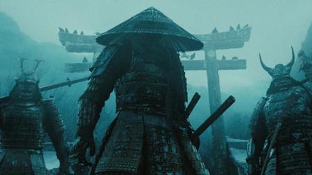 Samurai - samurai, japanese, blue, oriental