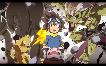 digimon adventure 02 - agumon, mosnter, digimon, adventure