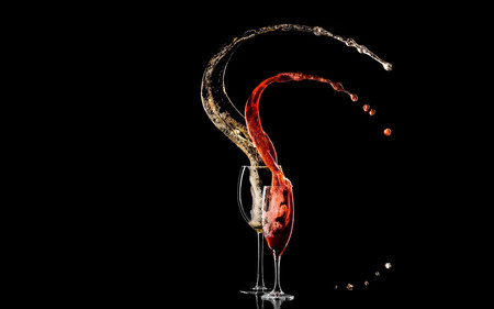 Drinks_Wine_to_Champagne - glass, wine, black, drink, champagne
