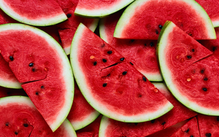 Watermelons - red, fruit, colourful, nature