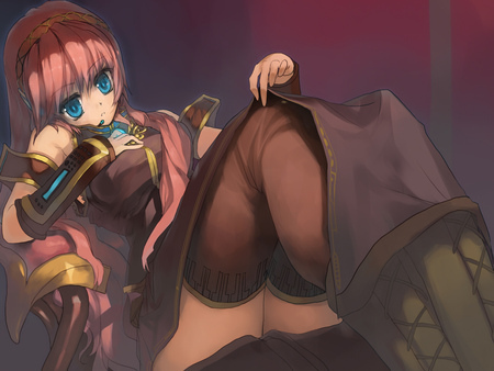 Megurine Luka - thighighs, vocaloid, beautifull, luka, sexy, megurine, cute, hot, beauty, anime girl, blue eyes, long hair, pink hair