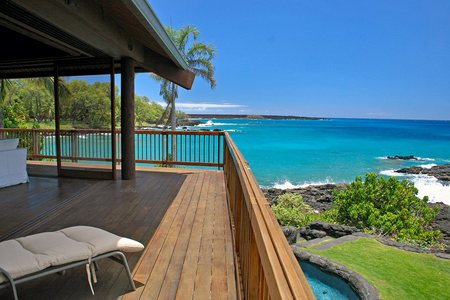 A Hawaiian View - view, blue oean, chair, lanai, bedroom