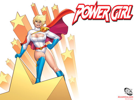 Power Girl - dc, fantasy, power, comic, girl