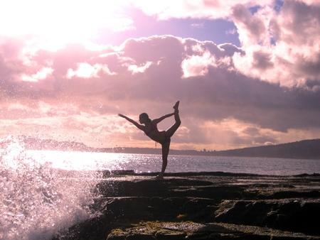 Yoga Sunset - sunset, sky, relaxation, nature, meditation, beach, yoga