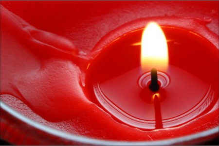 red candle - color, light, nice, candle, flame, red, vax