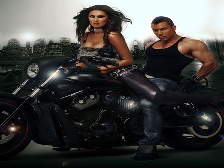 DANGERS COUPLE - city, couple, female, danger, male
