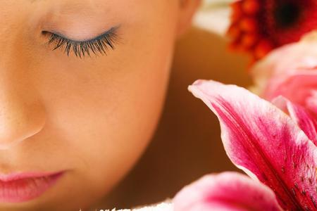 Spa - flowers, girl, spa, abstract, 3d