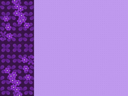 Left purple border - flower, border, purple, left