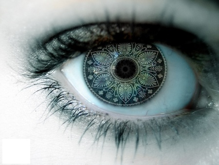 Eye - pattern, fantasy, green, eye, digital