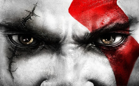 Kratos Eyes - kratos, war, eyes, gow