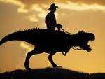 T rex cowboy silhouette