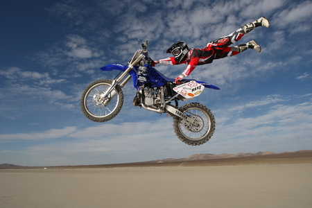 Motorcrossing At Desert - motorcross, desert, photography, sport, yamaha