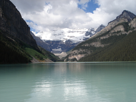LAKE LOUISE GLACIER - alberta, lake louise, glacier, banff