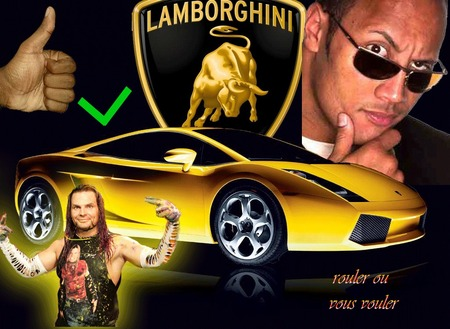 Lamborchini Jeff Hardy The Rock Wrestling Sports Background