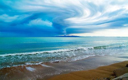 ocean waves beaches nature background wallpapers on desktop