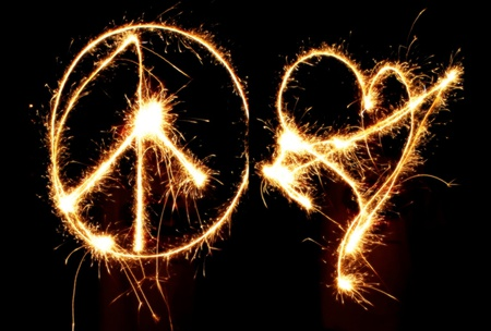 Glow of Peace & Love - sparkle, glow, shimmer, love, peace, light