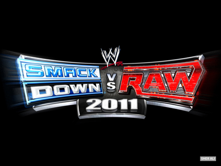 SMACKDOWN VS RAW 2011 LOGO WALLPAPER - smackdown vs raw, sher ali, 2011, smackdown vs raw 2011, wwe game, raw, svr2011, smackdown, wwe, 11, svr, wrestling, wrestling wallpapers