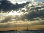 Sunset with Mackinac Bridge