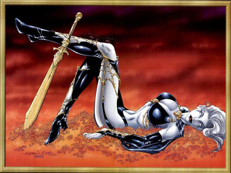 lady death - fantasy, high heels, dark, hot, evil, lady death, comics, sexy