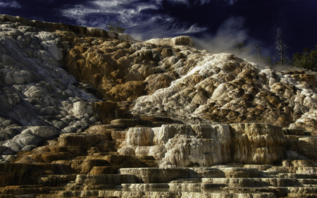 LOWER MAMMOTH - YELLOWSTONE - mineral, dlbdata, wyoming, yellowstone, hdr, spring, mammoth, geyser