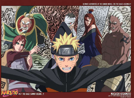 The Five Great KAGES including NARUTO - naruto, tsuchikage, kages, a, raikage, danzo, gaara, kazekage