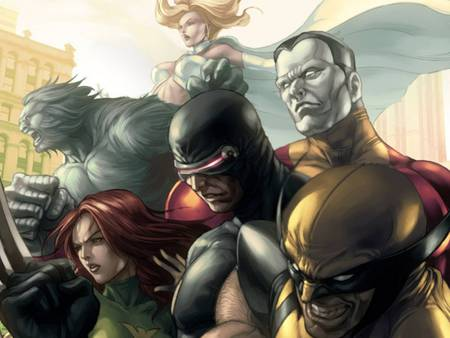 the X men - cool, cyclops, heroes, x men, new, metal man, mutants