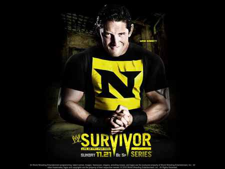 WWE Survivor Series 2010 - survivor series, wade barrett, wrestling, nxt, black, yellow, wwe, 2010, nexus, ppv, raw