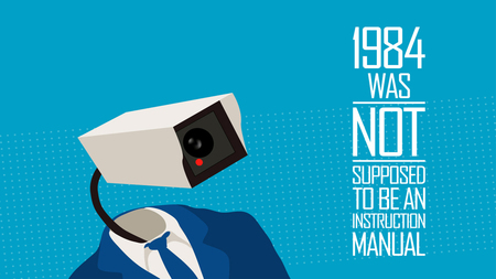 1984 - suit, camera, instruction, 1984, big brother, watching, record, manual