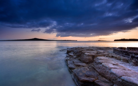 Rangitoto Island at New Zeeland