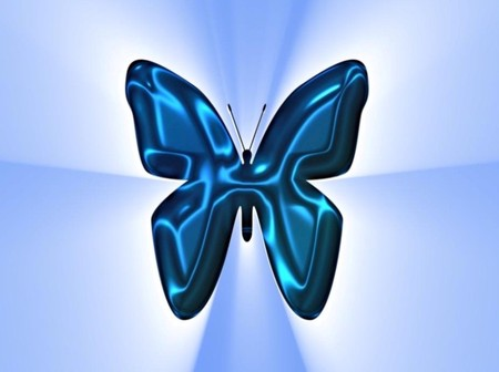 blue butterfly - butterfly, abstract, blue