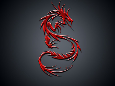 Red dragon - fantasy, red dragon, abstract, dragon, red