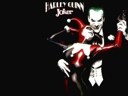 Harly Quin and the Joker - comic, harly quin, joker, action, love, villians, dc, the joker