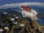 Bellerophon ridden on Pegasus