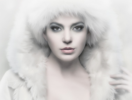 Ice queen - eyes, woman, lips, beautyful