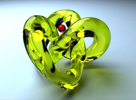 Glass form - red, vray, yellow, caustics, 3dmax, sphere, glass form, glass, 3d, green, simple