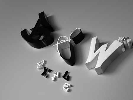 Black and White - style, 3d max, black, words, white, black and white, emble, text, symbol, vray, wallpaper, and