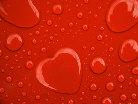heart shaped drop - red, nice, 3d, drop, cg
