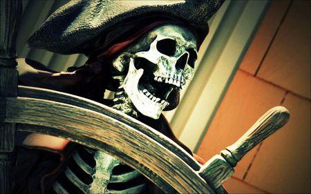Pirate - pirate, skeleton, skull, fantasy
