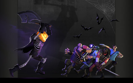 TF2 Halloween - soldier, halloween, scout, tf2, spy, demon, pyro, engineer, fortress, heavy, medic, monster, team