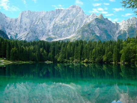 Fusine Lake, Friuli, Italy - rocks, background, fucine, italia, nice, wallpaper, mounts, creeks, paisage, wood, italy, friuli, fusine, snow, mountains, beautiful, cold, europe, leaves, green, scenery, blue, lakes, shadow, maroon, paisagem, icy, nature, desktop, reflected, branches, scene, clouds, cenario, mirrored, scenario, peaks, forests, rivers, paysage, cena, black, trees, pines, lagoons, sky, panorama, water, cool, awesome, ice, photoshop, fullscreen, landscape, brown, gray, laguna, trunks, photography, grove, mirror, amazing, photo, declives, leaf, plants, frozen, reflections, natural