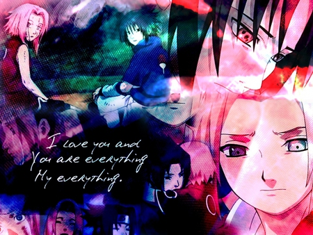 Sakura Sasuke Naruto Anime Background Wallpapers On Desktop
